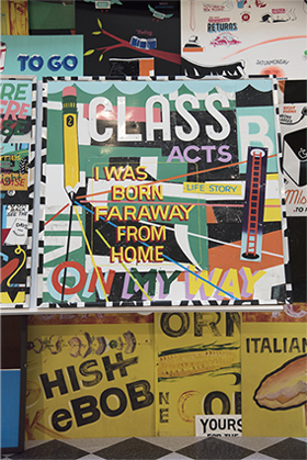 Image of posters at Coney Island by Stephen Powers